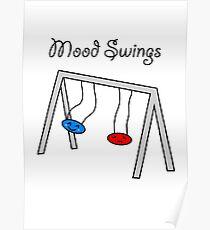 Funny Mood Swings Cartoon Poster