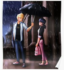 Miraculous Ladybug: The Umbrella Scene Poster