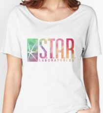 White Watercolor S.T.A.R. Laboratories Women's Relaxed Fit T-Shirt