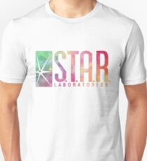 White Watercolor S.T.A.R. Laboratories Unisex T-Shirt