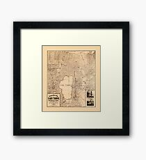 Map Of Lake Tahoe 1874 Framed Print