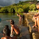 Lenger Swimmers - Pohnpei, Micronesia  by Alex Zuccarelli