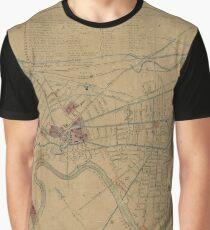 Map of Cambridge 1861 Graphic T-Shirt