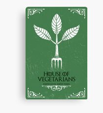 HOUSE OF VEGETARIANS Canvas Print