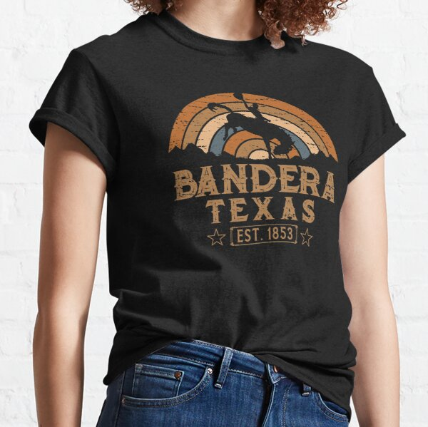 Bandera Texas Retro Wild West Cowboy Classic T-Shirt