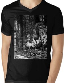 Sitting by the Road in the Rain and Witnessing the Tepid  Darkness Mens V-Neck T-Shirt