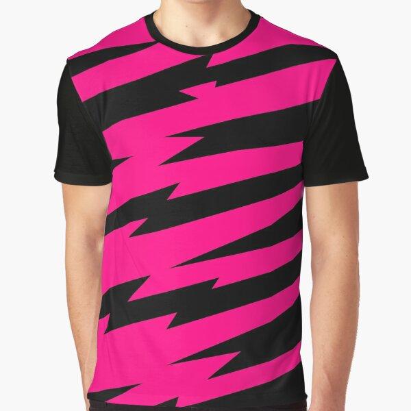 Pizzazz Pink Lightning Graphic T-Shirt