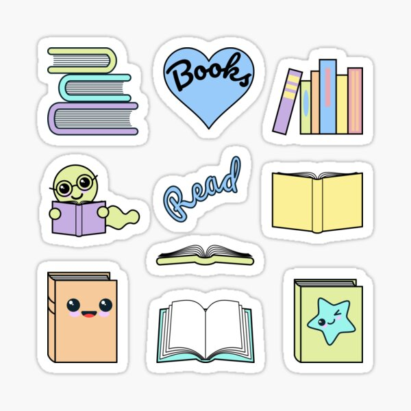 Books Love Sticker Pack Sticker