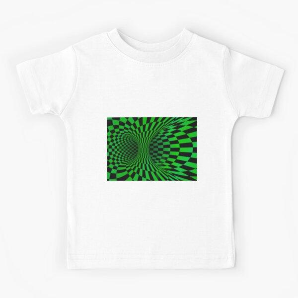 Green Trippy optical illusion  Kids T-Shirt