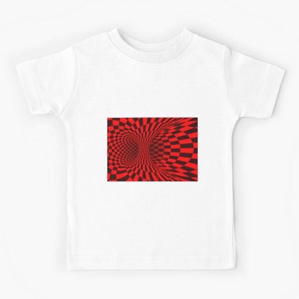 Red Trippy optical illusion  Kids T-Shirt