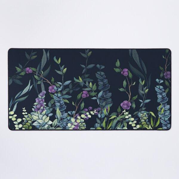 Midnight Eucalyptus Garden Desk Mat