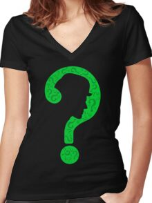 The Riddler ? Women's Fitted V-Neck T-Shirt