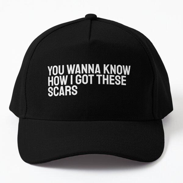 You Wanna Know How I Got These Scars Heath Ledger Joker White version Baseball Cap