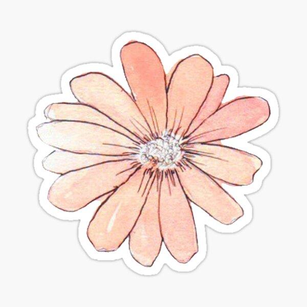 Peach Watercolor Sticker