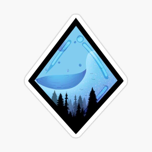 Diamond liquid  forest Sticker