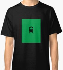 Chicago Commuter CTA Inspired Green Line Minimalism Design Classic T-Shirt