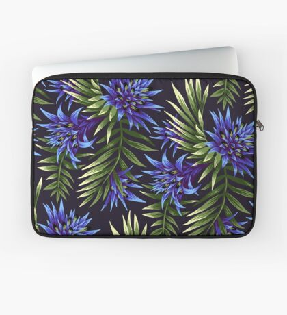 Fasciata Tropical Floral - Blue/Green Laptop Sleeve
