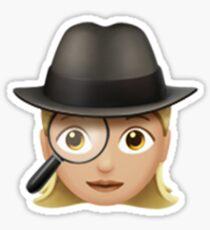 Emoji Detective (Blonde Female) Sticker