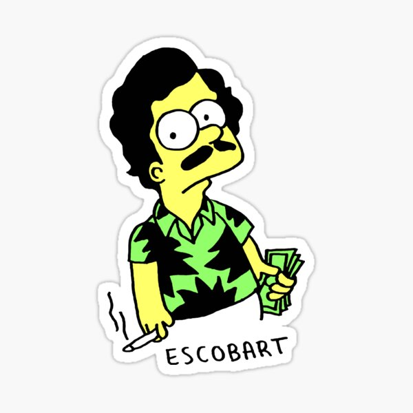 Escobart Pegatina