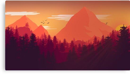 Firewatch Art Design - 4k  by Colxbat