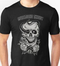 Wisconsin Skinny Snake Skull Unisex T-Shirt