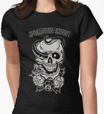 Wisconsin Skinny Snake Skull Women's Fitted T-Shirt
