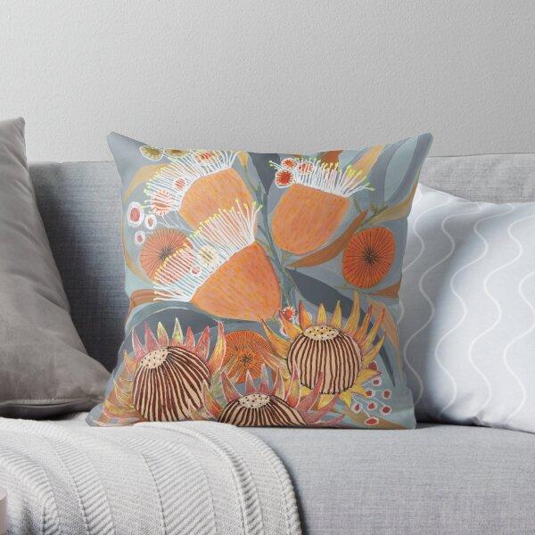 Australian Boquet Throw Pillow