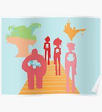 Gorillaz History Silhouette Poster