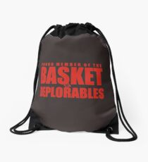Proud Member of The Basket Deplorable Drawstring Bag