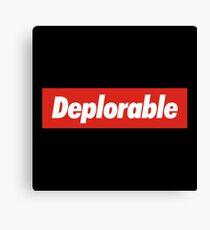 Deplorable Canvas Print