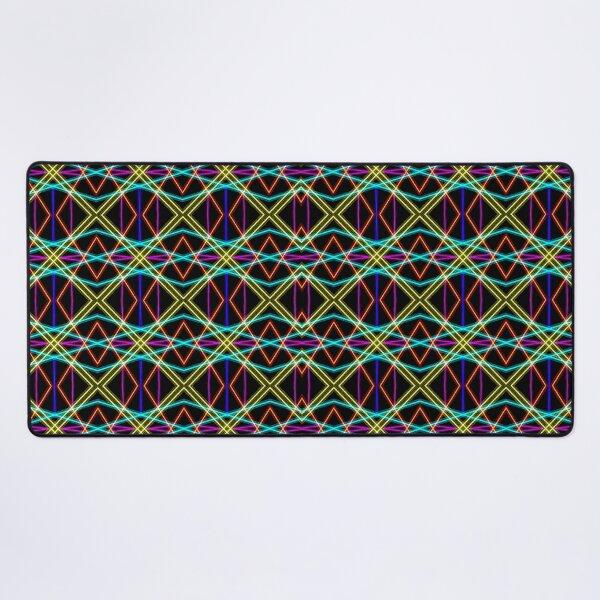 Geometric lines Desk Mat