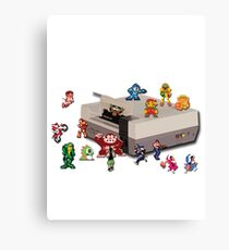 Nintendo 8-bit retro throwback Canvas Print