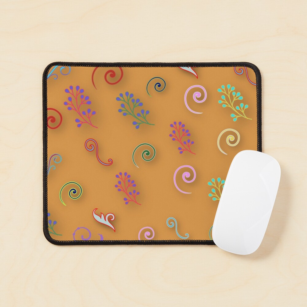 Abstract floral patterns  Mouse Pad