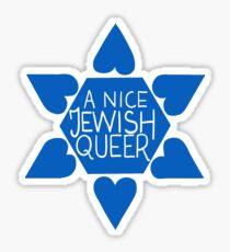 A Nice Jewish Queer- Blue  Sticker