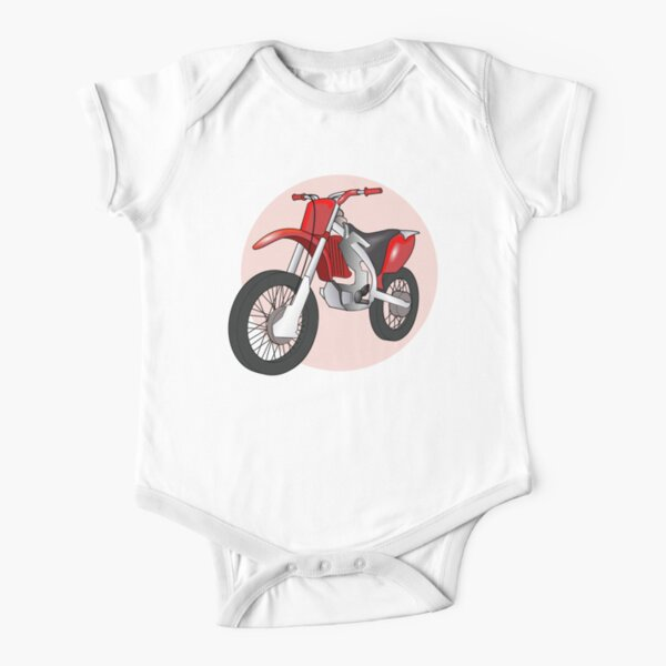 Red Sanchez Short Sleeve Baby One-Piece
