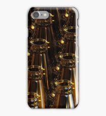 Glass bottles of beer on dark background. 3d illustration. iPhone Case/Skin
