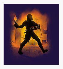 Riot Cops Photographic Print