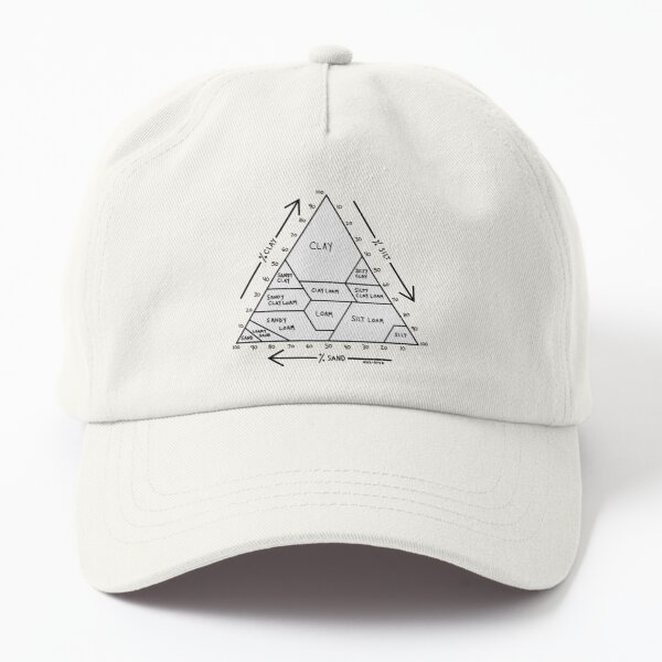 Soil Chart Black and White Dad Hat