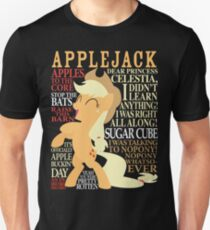 The Many Words of Applejack Unisex T-Shirt
