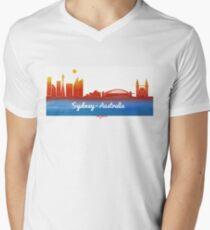 iconic Sydney Australia Mens V-Neck T-Shirt