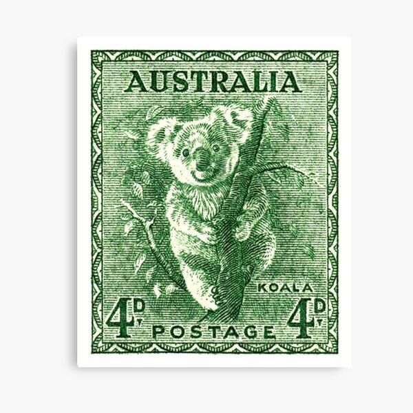 1940 Australia Koala Postage Stamp Canvas Print