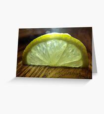 Lemon Slice Greeting Card