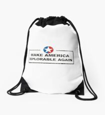 Make America Deplorable Again Drawstring Bag