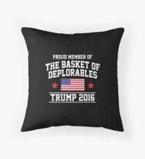The Basket of Deplorables Throw Pillow