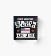 The Basket of Deplorables Acrylic Block
