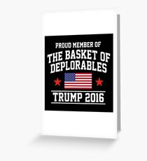 The Basket of Deplorables Greeting Card