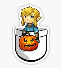The Legend of Zelda Link Halloween Pumpkin Sticker