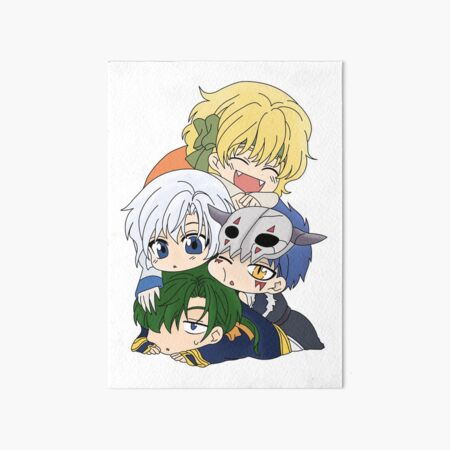 The Four Dragon Warriors Chibi Art Board Print
