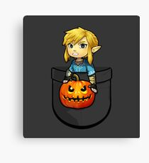 The Legend of Zelda Link Halloween Pumpkin Canvas Print