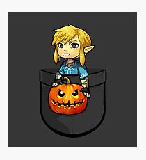 The Legend of Zelda Link Halloween Pumpkin Photographic Print